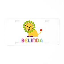 Belinda the Lion Aluminum License Plate