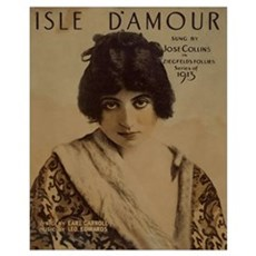Isle DAmour Vintage Poster