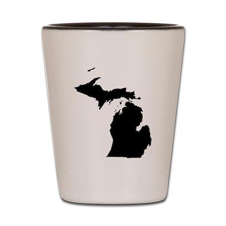 Michigan Map Shot Glass