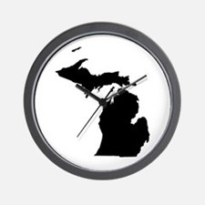 Michigan Map Wall Clock