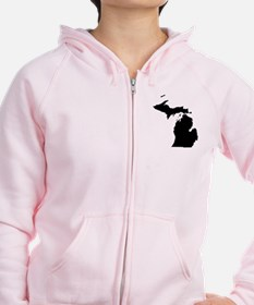Michigan Map Zip Hoodie