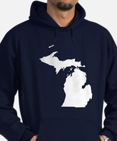 Michigan Map Hoodie
