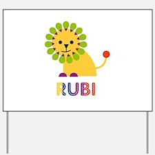 Rubi the Lion Yard Sign