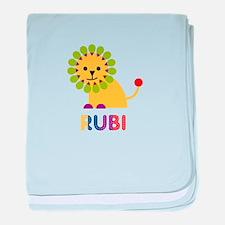 Rubi the Lion baby blanket