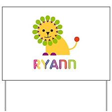 Ryann the Lion Yard Sign