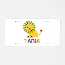 Tania the Lion Aluminum License Plate