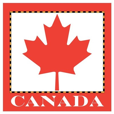 Canada with Red Maple Leaf Poster