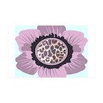 Pink Flower Leopard Print 38.5 x 24.5 Wall Peel