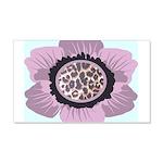 Pink Flower Leopard Print 22x14 Wall Peel