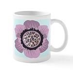 Pink Flower Leopard Print Mug