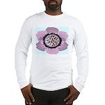 Pink Flower Leopard Print Long Sleeve T-Shirt