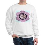 Pink Flower Leopard Print Sweatshirt