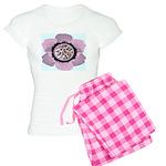 Pink Flower Leopard Print Women's Light Pajamas