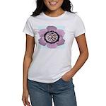 Pink Flower Leopard Print Women's T-Shirt
