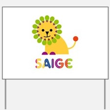 Saige the Lion Yard Sign