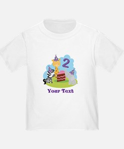 Personalized 2nd Birthday Animals T