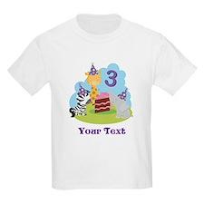 Personalized 3rd Birthday Animals T-Shirt