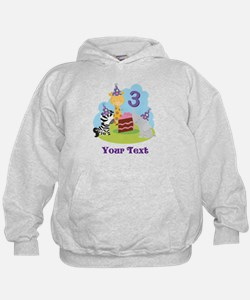 Personalized 3rd Birthday Animals Hoodie