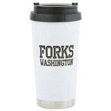 Forks, WA Travel Mug