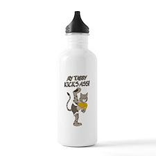 Tabby Cat Kickboxer Water Bottle