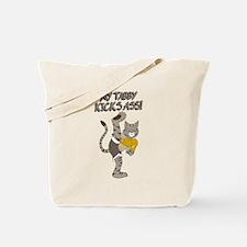 Tabby Cat Kickboxer Tote Bag