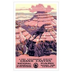 1930s Vintage Grand Canyon National Park Large Pos Poster