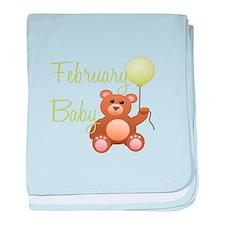 February Bear baby blanket