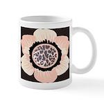 Pink and White Flower Leopard Mug