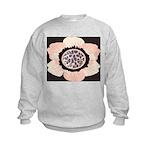 Pink and White Flower Leopard Kids Sweatshirt