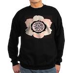 Pink and White Flower Leopard Sweatshirt (dark)