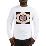 Pink and White Flower Leopard Long Sleeve T-Shirt