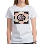 Pink and White Flower Leopard Women's T-Shirt