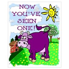 Purple Cow / Farm Framed Print