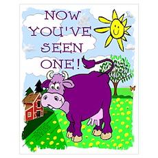 Purple Cow / Farm Poster