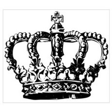 Black Crown Canvas Art