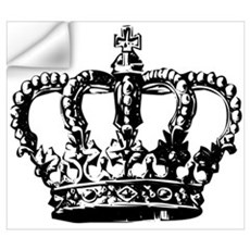 Black Crown Wall Decal