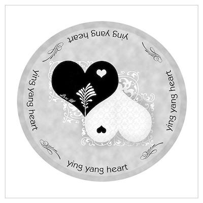 Heart lace / ying yang Poster