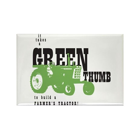Oliver Green Thumb Rectangle Magnet