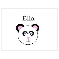 Ella - Panda Poster