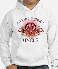 I Wear Burgundy for my Uncle Hoodie