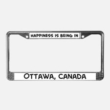Happiness is Ottawa License Plate Frame