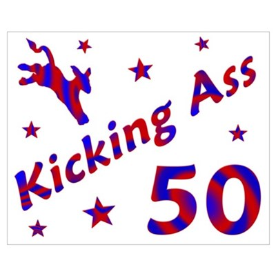 Kicking Ass 50 Canvas Art