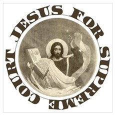 Jesus for Supreme Court Framed Print