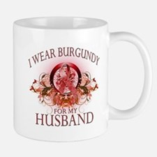 I Wear Burgundy for my Husban Mug
