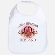 I Wear Burgundy for my Husban Bib