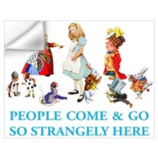 PEOPLE COME & GO Wall Decal