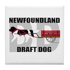 Landseer Draft Dog Tile Coaster