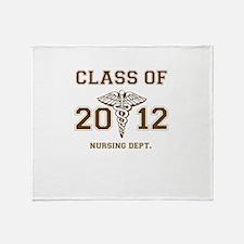 Cute Nursing class of 2012 Throw Blanket