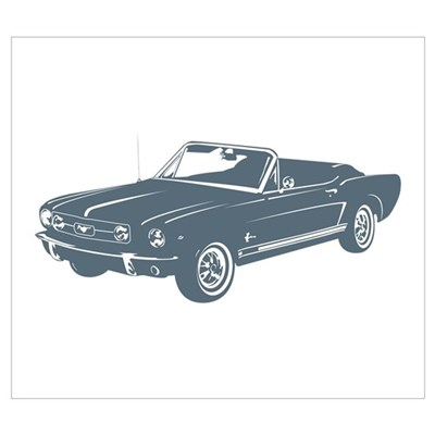 1965 Ford Mustang Convertible Poster