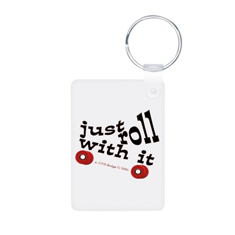 Just Roll With It Aluminum Photo Keychain
